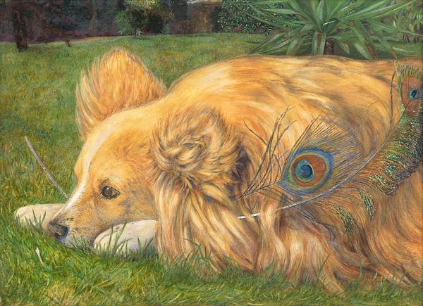 Border Collie Painting - Jealous Jessie by Emily Hunt and William Holman Hunt