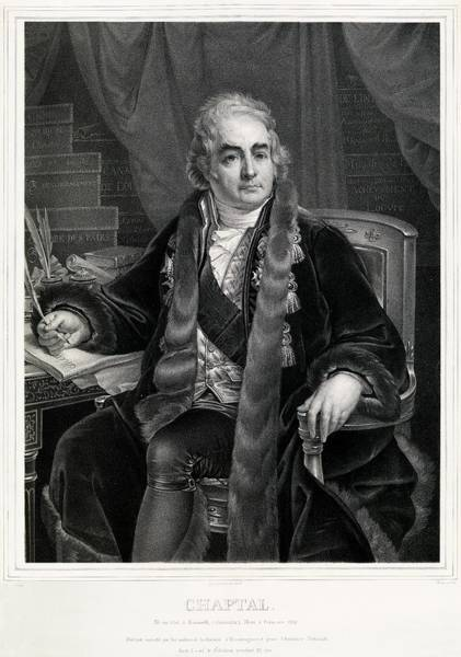 Comte Wall Art - Photograph - Jean-antoine Chaptal by Royal Institution Of Great Britain / Science Photo Library