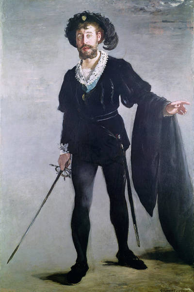 Hose Photograph - Jean Baptiste Faure 1830-1914 As Hamlet, 1877 Oil On Canvas by Edouard Manet