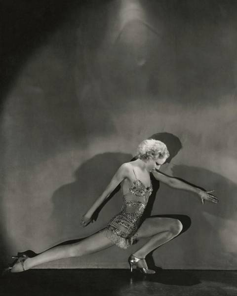 Jean Barry In Evergreen Art Print by George Hoyningen-Huene