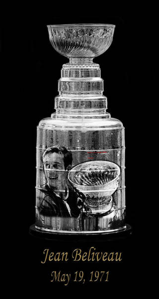 Photograph - Jean Beliveau 1 by Andrew Fare