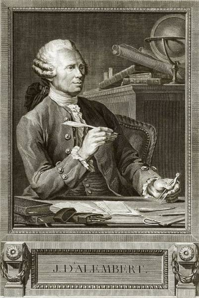 18th Century Photograph - Jean D'alembert by Emmet Collection Of Manuscripts/new York Public Library
