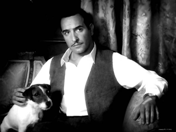 Digital Art - Jean Dujardin In The Film The Artist by Gabriel T Toro