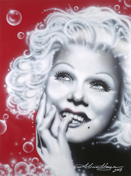 Leading Actress Wall Art - Painting - Jean Harlow by Alicia Hayes