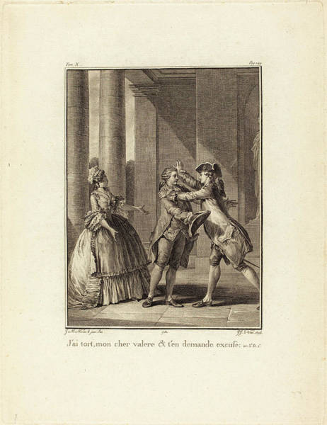 Wall Art - Drawing - Jean Jacques Le Veau After Jean-michel Moreau French, 1729 by Quint Lox