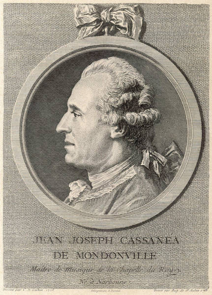 Wall Art - Drawing - Jean Joseph Cassanea De Mondonville by Mary Evans Picture Library