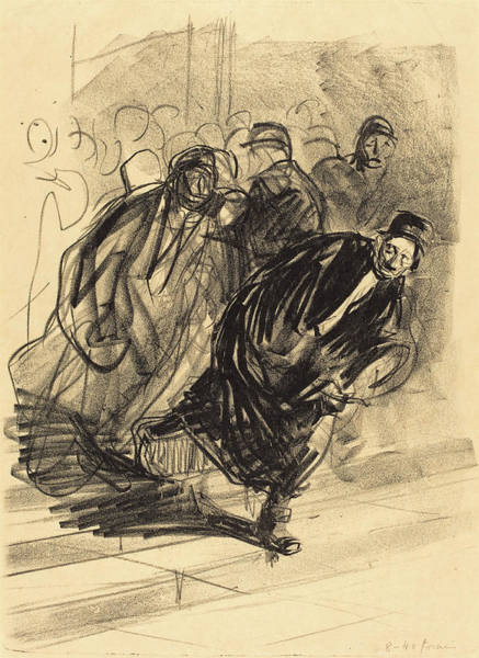 Wall Art - Drawing - Jean-louis Forain, The Lawyer Pursued, French by Quint Lox