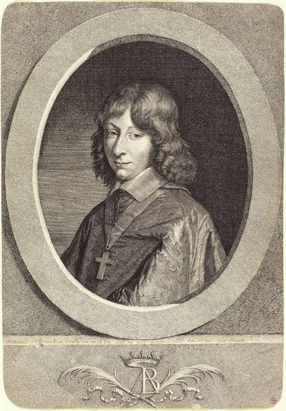 Stipple Drawing - Jean Morin After Justus Van Verus French by Quint Lox