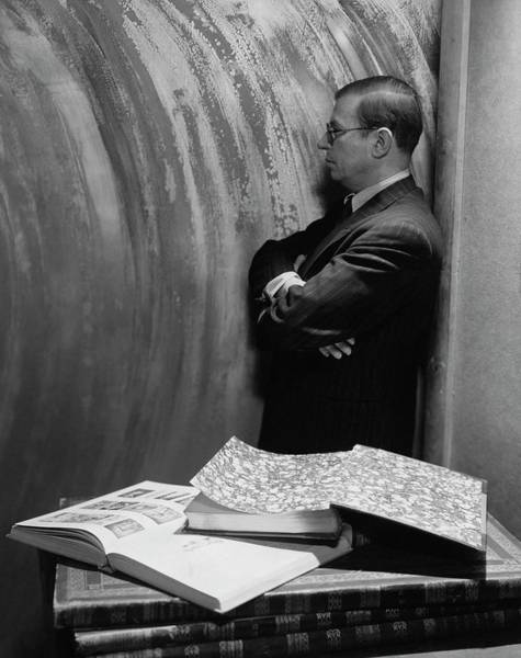 Middle Aged Photograph - Jean-paul Sartre By Books by Cecil Beaton
