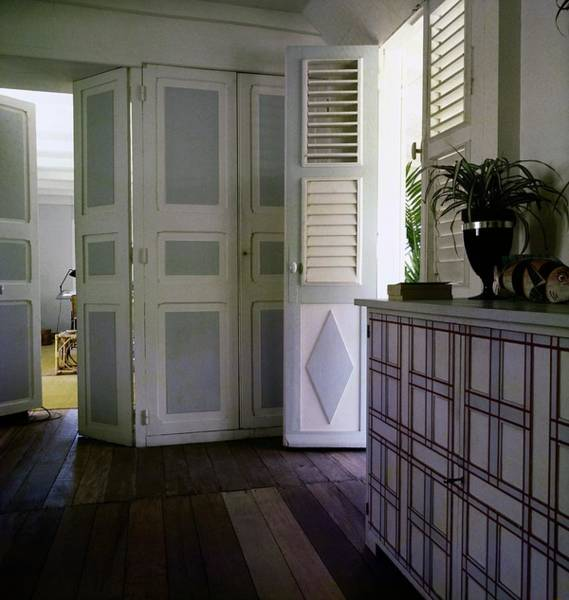 Shutters Photograph - Jean Schlumberger's Bedroom by Horst P. Horst