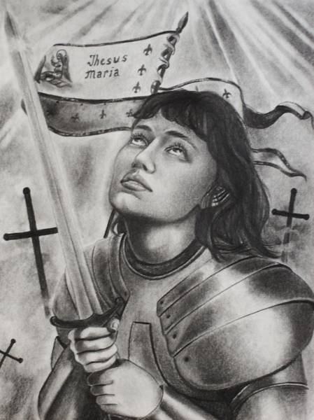 Amber Drawing - Jeanne D' Arc by Amber Stanford