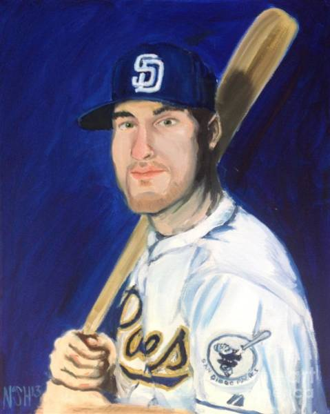 Hitter Painting - Jedd Gyorko by Jeremy Nash