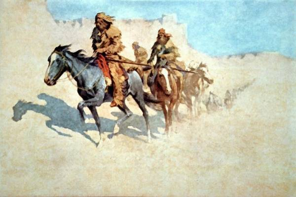 Digital Art - Jedediah Smith Crossing The Mojave Desert by Frederic Remington