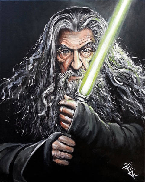 Ring Painting - Jedi Master Gandalf by Tom Carlton