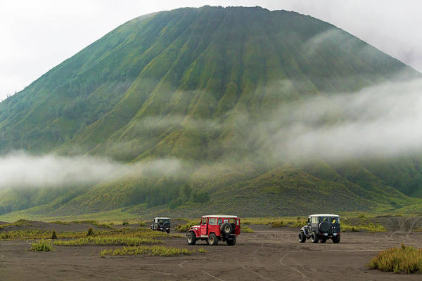 Indonesian Culture Photograph - Jeep Tour Near Mt.bromo,east by Konstantin Trubavin