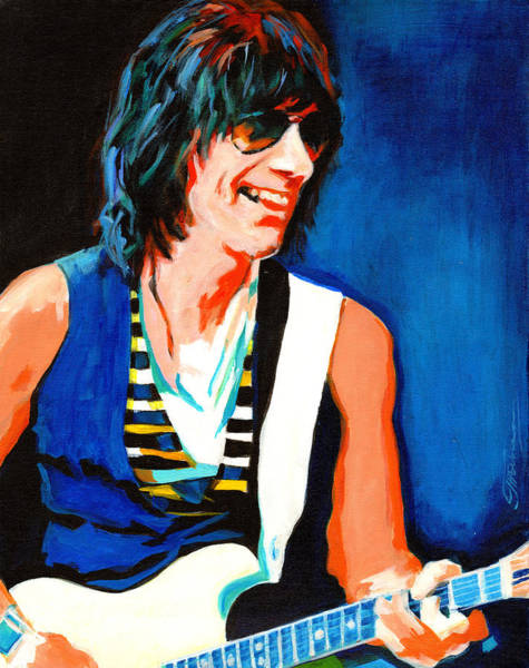 Jeff Beck. Brush With The Blues Art Print