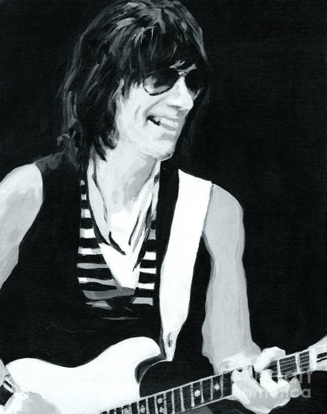 Progressive Rock Painting - Jeff Beck-emotion And Commotions by Tanya Filichkin