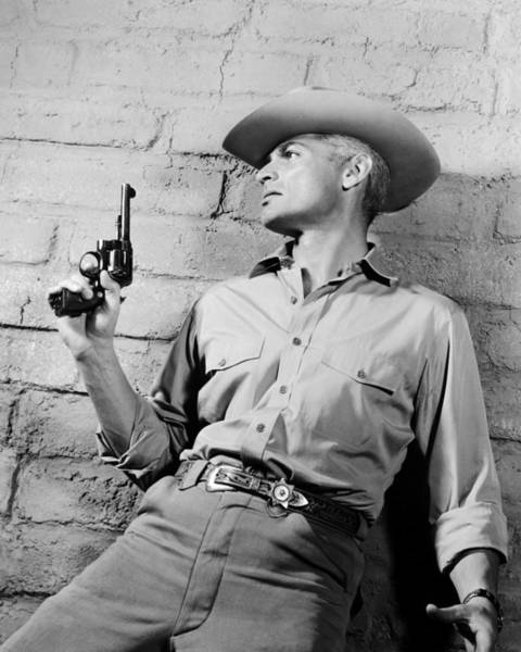 Chandler Photograph - Jeff Chandler In Man In The Shadow  by Silver Screen