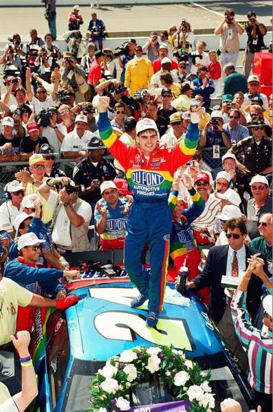 Dupont Wall Art - Photograph - Jeff Gordon At The Brickyard by Retro Images Archive