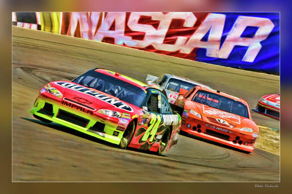 Jeff Gordon-nascar Race Art Print