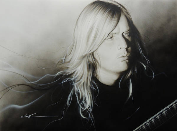 Jeff Hanneman Wall Art - Painting - Jeff H by Christian Chapman Art