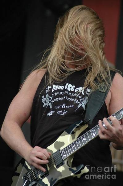 Photograph - Jeff Hanneman From Slayer by Jenny Potter
