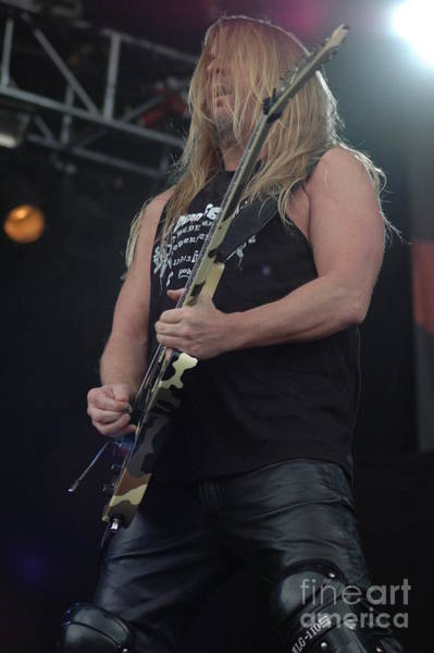 Photograph - Jeff Hanneman- Slayer by Jenny Potter