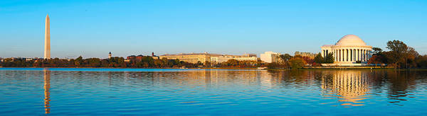 National Mall Wall Art - Photograph - Jefferson Memorial And Washington by Panoramic Images