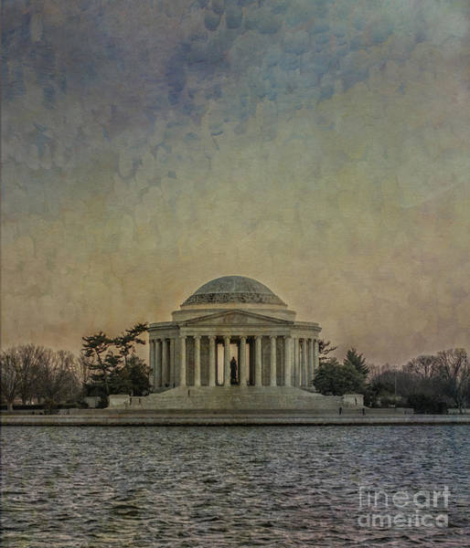 Photograph - Jefferson Memorial At Dusk by Terry Rowe