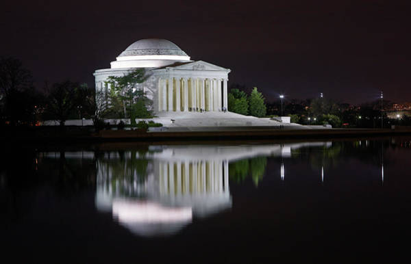 Tidal Basin Photograph - Jefferson Memorial At Night by Allan Baxter