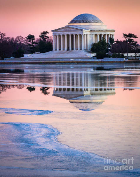 National Mall Wall Art - Photograph - Jefferson Memorial In Winter by Inge Johnsson