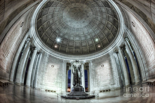 Photograph - Jefferson Memorial Interior I by Clarence Holmes