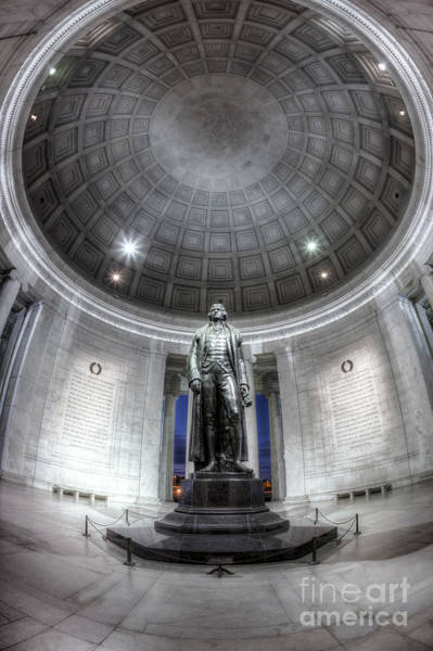 Photograph - Jefferson Memorial Interior IIi by Clarence Holmes