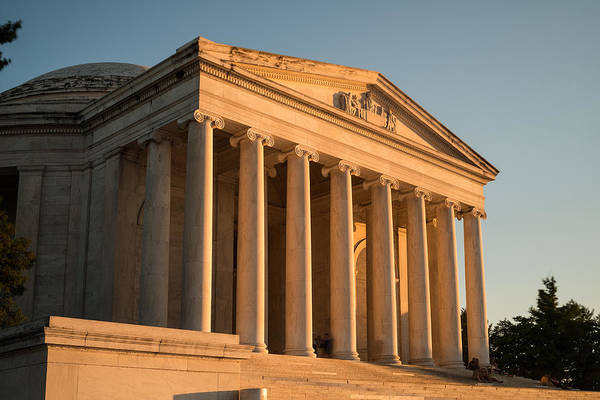 Jefferson Photograph - Jefferson Memorial Sunset by Steve Gadomski