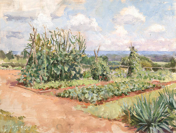 Monticello Painting - Jefferson Sea View From The Gardens by Edward Thomas