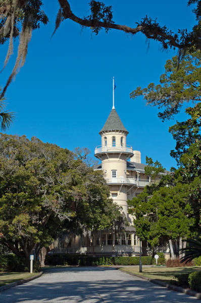 Photograph - Jekyll Island Club Hotel Front View by Bruce Gourley