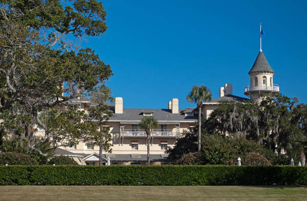 Photograph - Jekyll Island Club Hotel Side View by Bruce Gourley