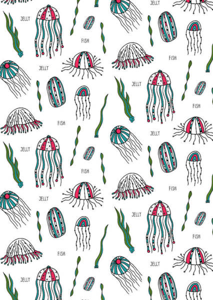 Jellyfish Photograph - Jellyfish Repeat Print by MGL Meiklejohn Graphics Licensing