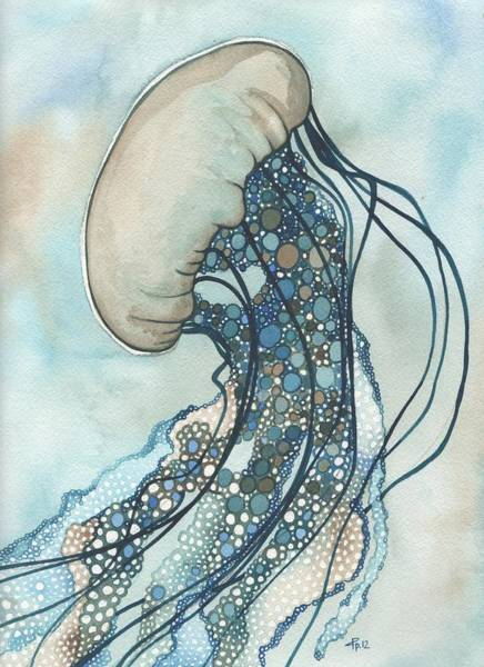 Beautiful Painting - Jellyfish Two by Tamara Phillips
