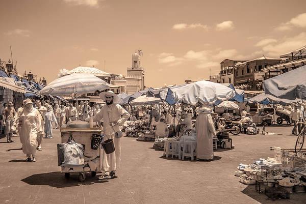 Photograph - Jemaa El Fna Market In Marrakech by Ellie Perla