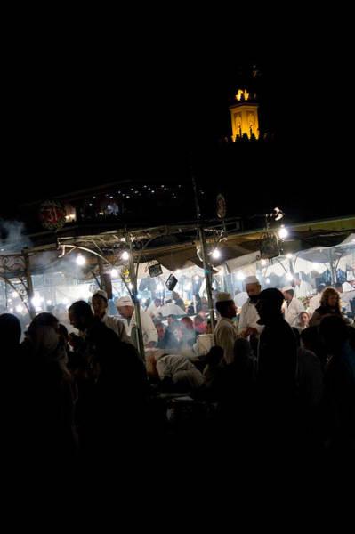 Illuminations Photograph - Jemaa El Fna Square In Marrakesh At Nightorroco by David Smith