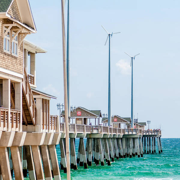 Photograph - Jennette Pier In Nags Head North Carolina Usa. by Alex Grichenko