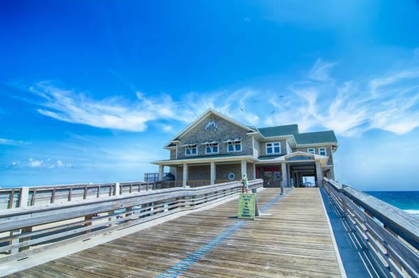 Photograph - Jennette's Pier In Nags Head North Carolina Usa. by Alex Grichenko