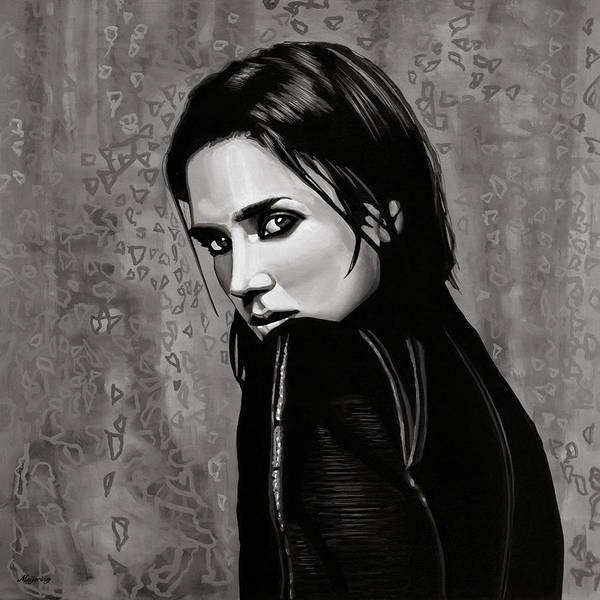 Wall Art - Painting - Jennifer Connelly Painting by Paul Meijering