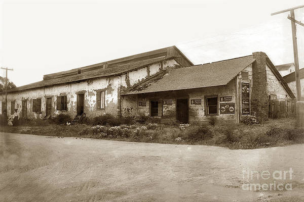 Photograph - Jenny Lind Theatre First Theatre In Monterey California Circa 1899 by California Views Archives Mr Pat Hathaway Archives