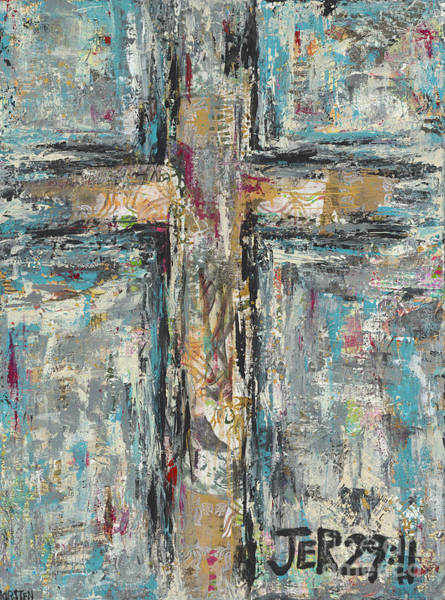 Wall Art - Painting - Jeremiah Cross by Kirsten Reed