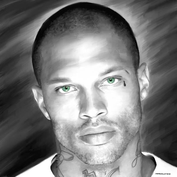 Digital Art - Jeremy Meeks Large Size Portrait by Gabriel T Toro
