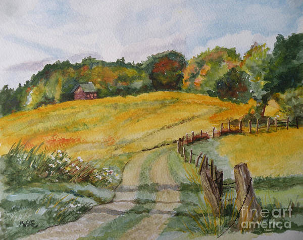 Fencepost Painting - Jeremy's Cabin by Margo Wolfe