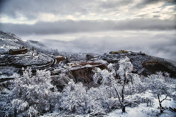 Photograph - Jerome After Icy Snow Storm by Ron Chilston