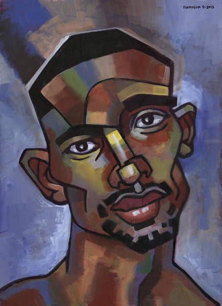 African American Painting - Jerome Has A Good Thought by Douglas Simonson